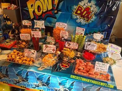 Batman Food Table