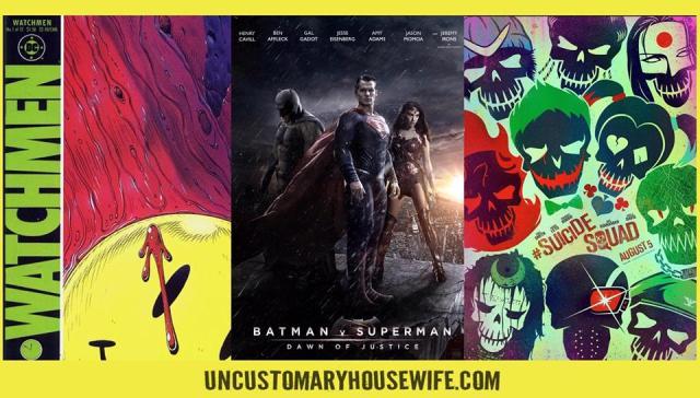 Watchmen Batman V Superman Suicide Squad