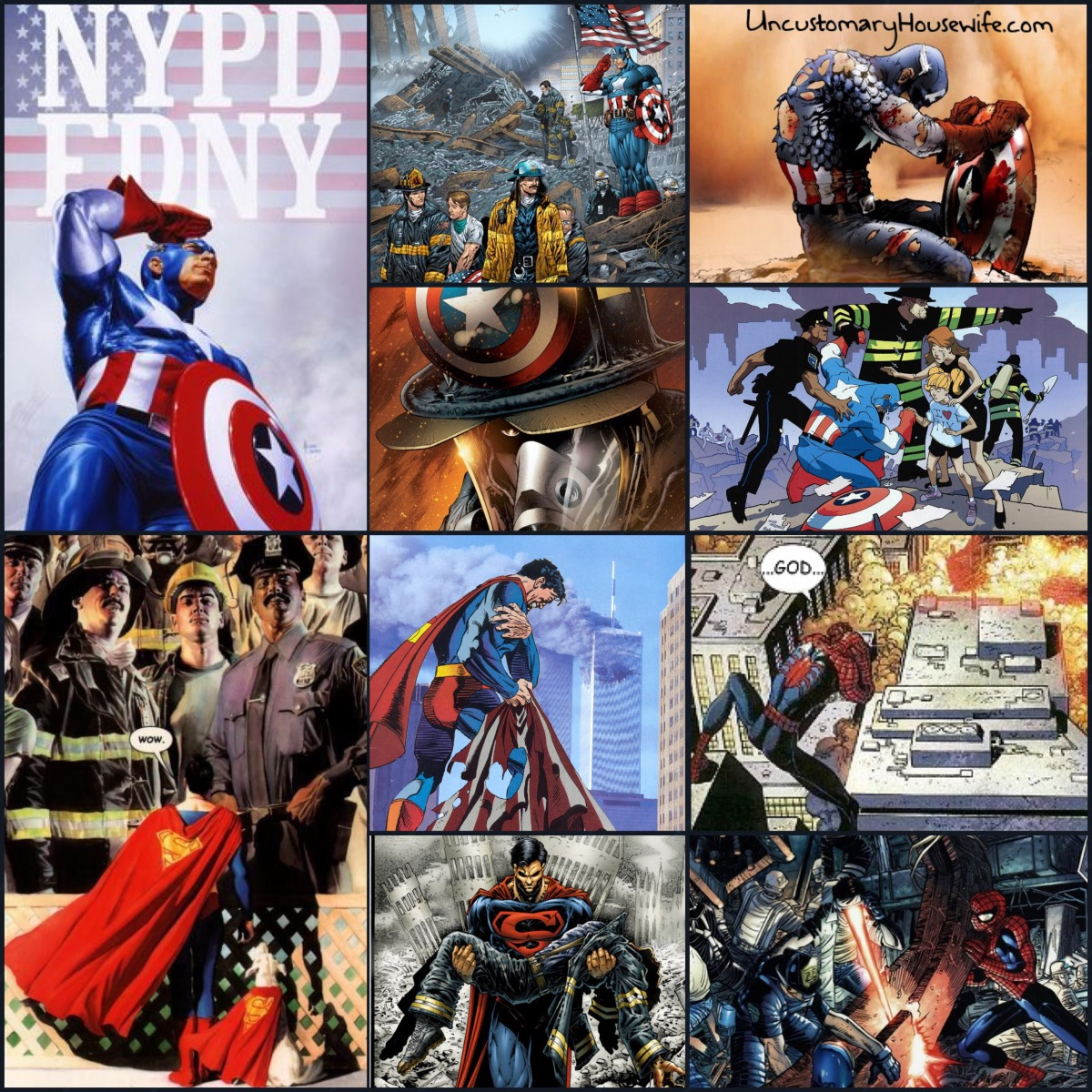 9/11/01 - Heroes Stronger Than Superman -Never Forget