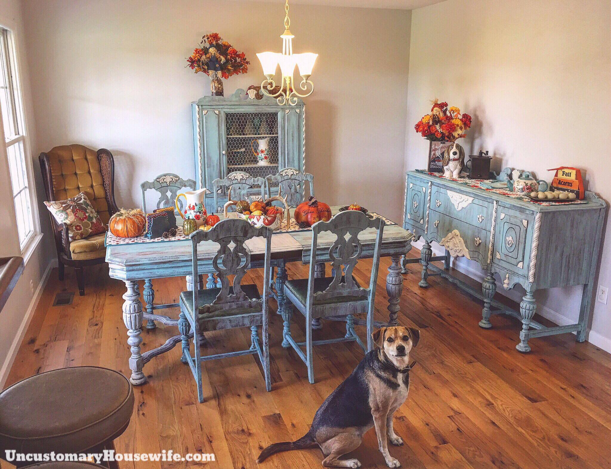 Antique Dining Room With Dog Uncustomary Housewife