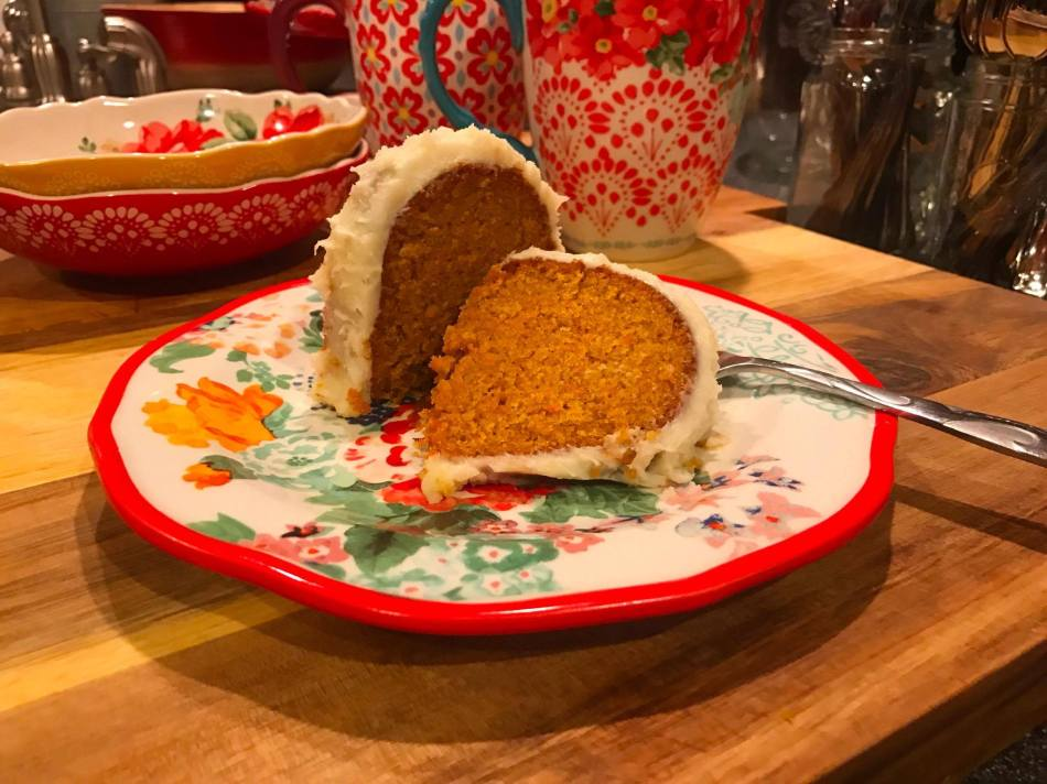 Feature Cut Carrot Cake