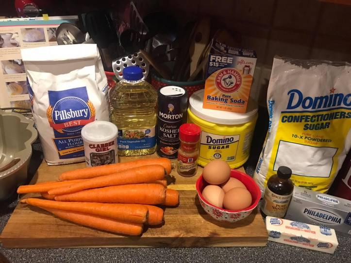 Ingredients Carrot Cake 2