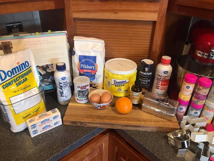 Ingredients Sugar Cookies with Icing