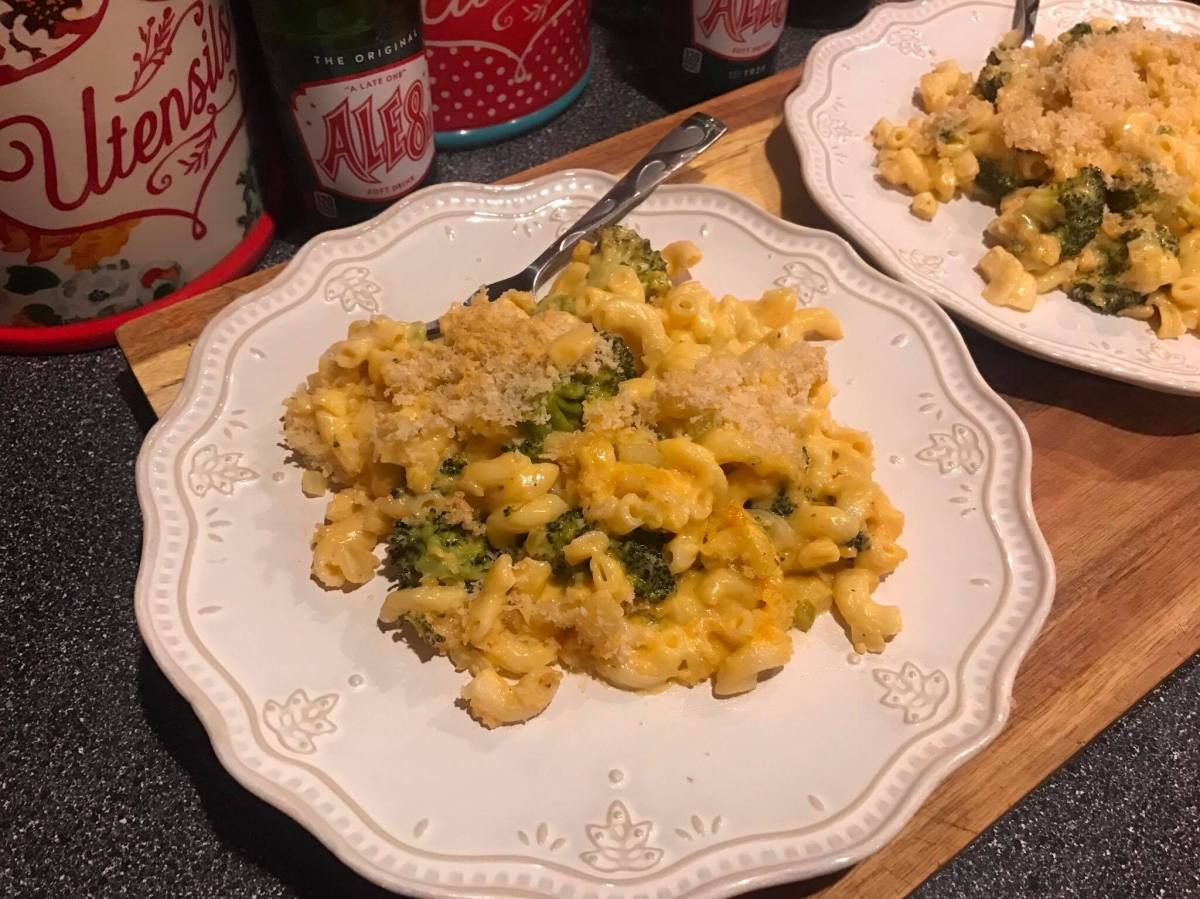 Broccoli Soup Mac and Cheese Casserole